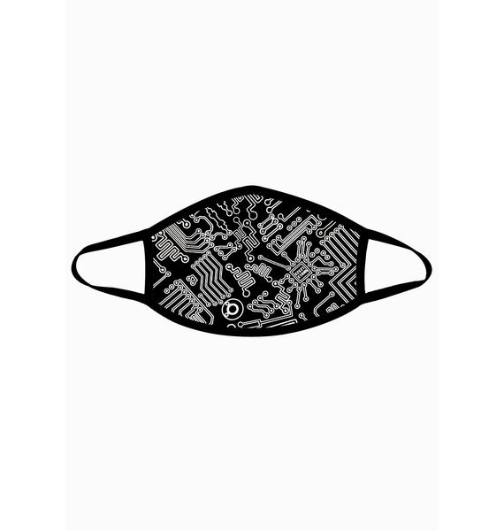 Neva Nude Geo Madness Reflective Face Mask