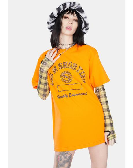 Orange Edumacated Graphic Tee