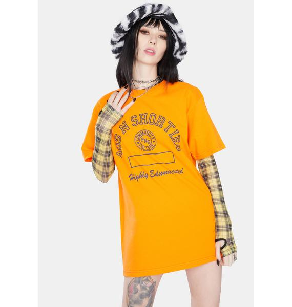 40s & Shorties Orange Edumacated Graphic Tee