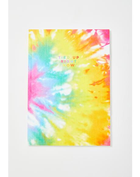 Tie Dye Tied Up Right Now Notebook