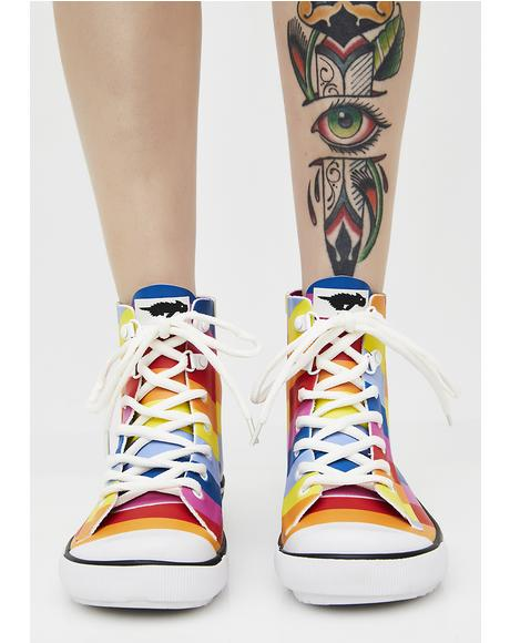 Rainy Spicy Stripe Sneaker Rain Boots
