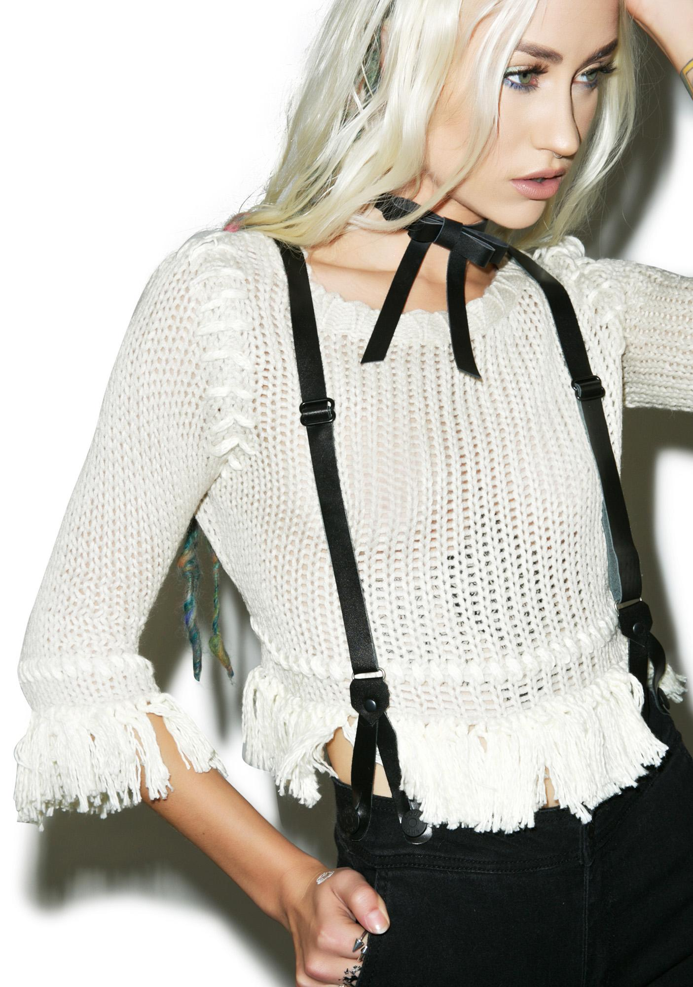 For Love & Lemons Denver Knit Crop Top