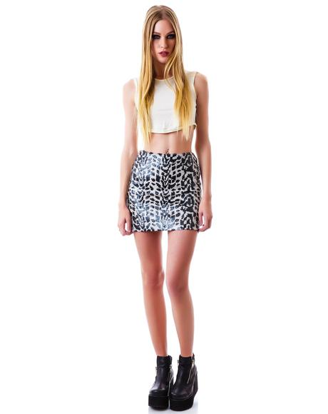 Critters Sequin Mini Skirt