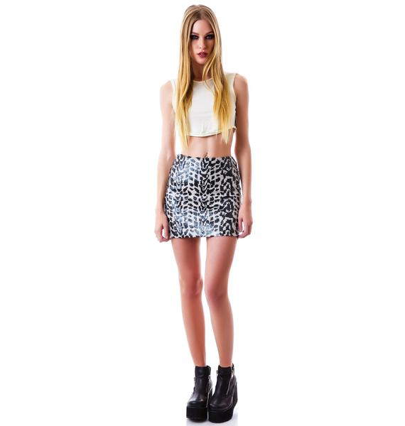 Nookie Critters Sequin Mini Skirt