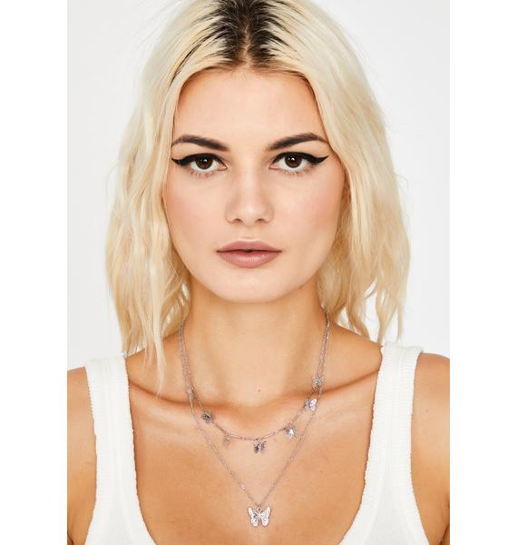 Butterfly Baddie Layered Necklace