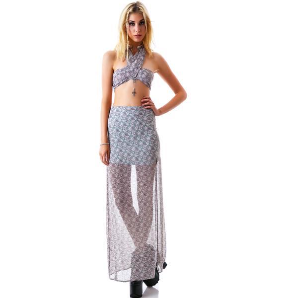 For Love & Lemons Midnight Cowgirl Skirt