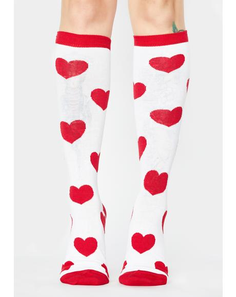Love Me Do Heart Socks