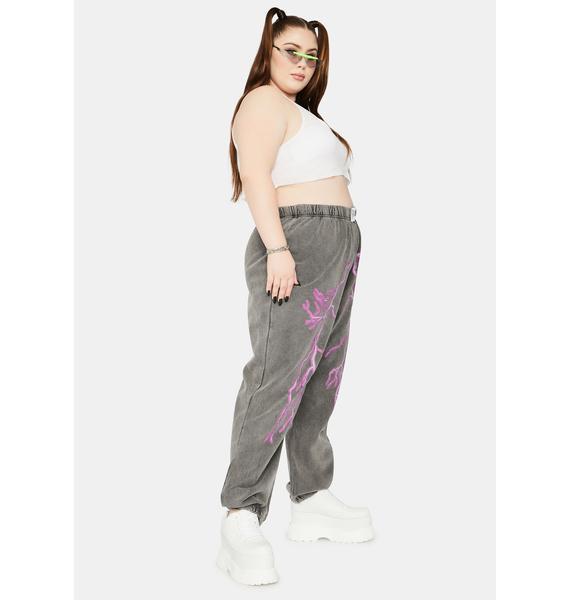 NEW GIRL ORDER Curve Flash Jogger Sweatpants