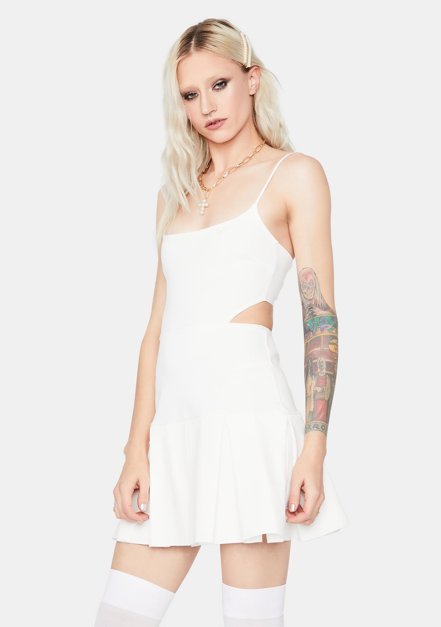 Ivory Too Peachy Pleated Dress