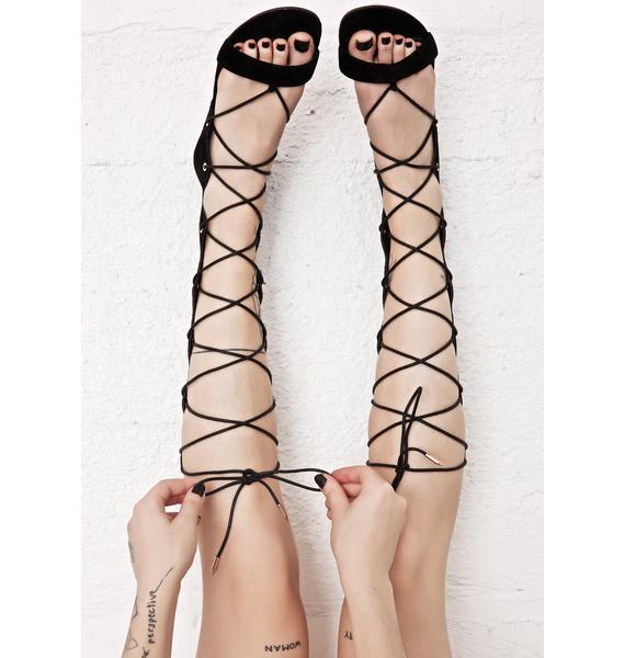 Stingray Lace Up Sandals