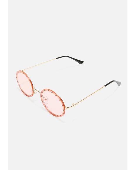Hippie Heartbreak Oval Sunglasses