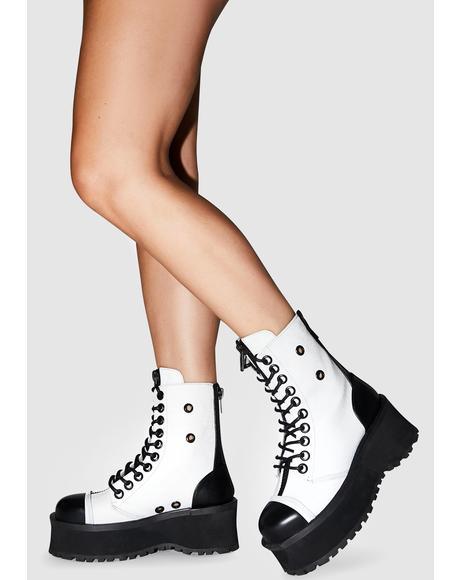 Gray Reflective Gravedigger Boots
