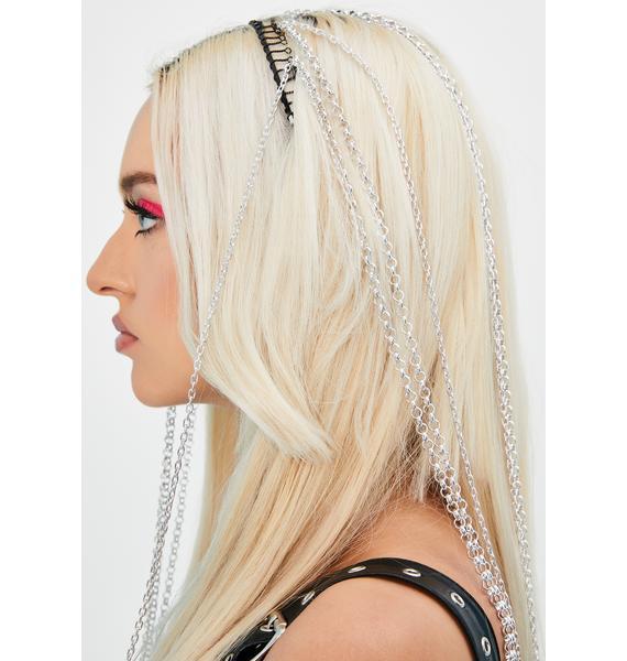 Bling Bounty Chain Fringe Headband
