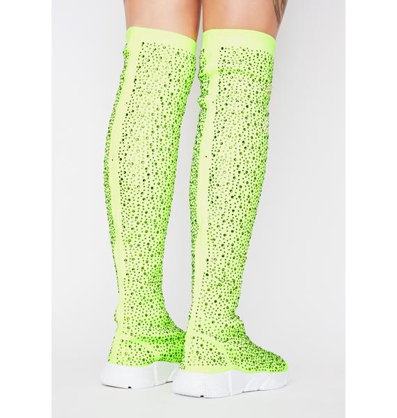 AZALEA WANG Partition Sock Sneakers