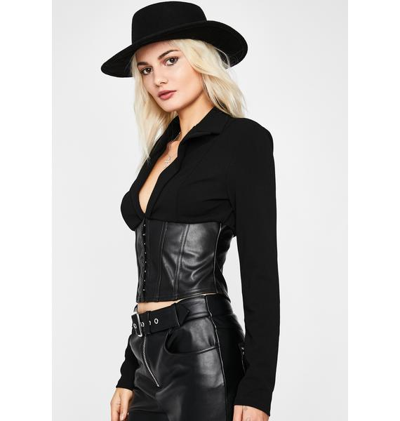 Cursed For Life Corset Blouse