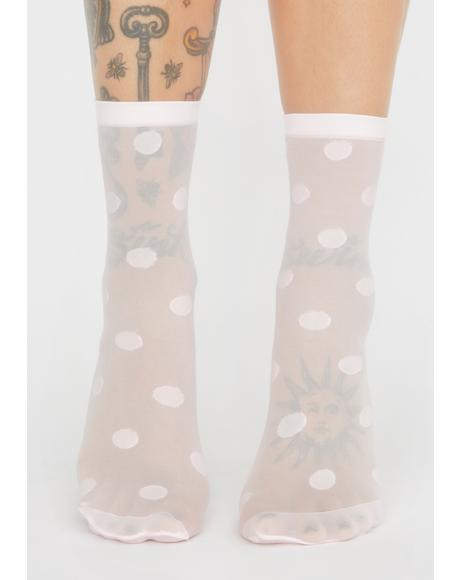 Sugar Save Me A Spot Mesh Socks