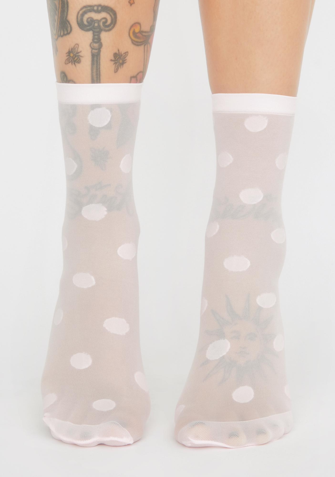 Sugar Save Me A Spot Mesh Socks