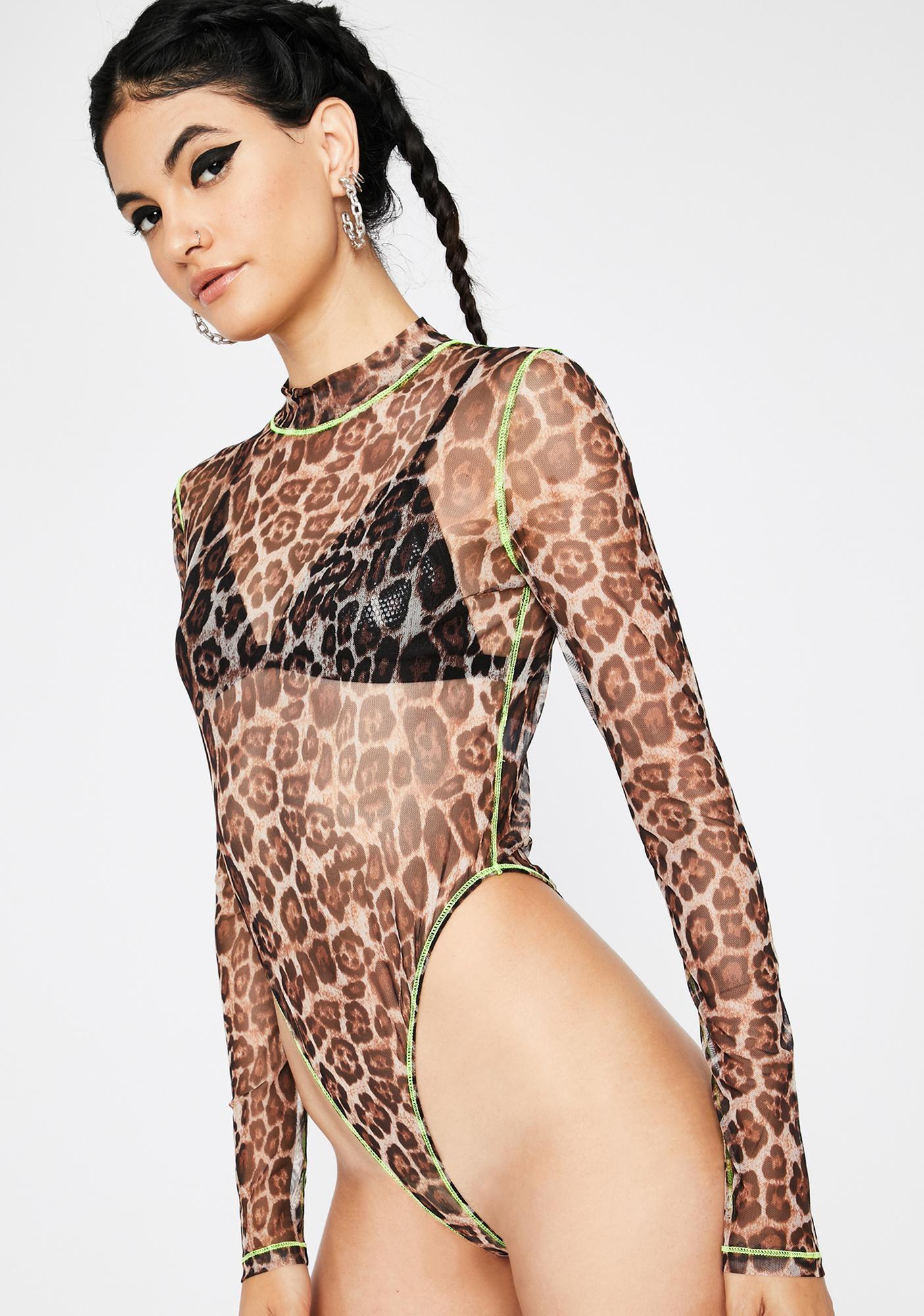 Litty Kitty Leopard Bodysuit