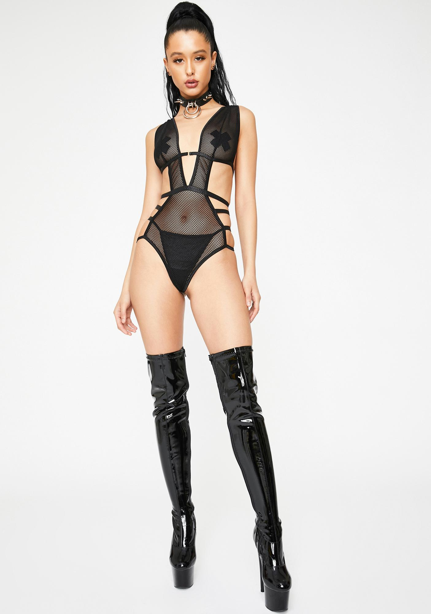 Desire Me Fishnet Teddy
