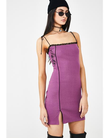 Plum Snake Slip Dress