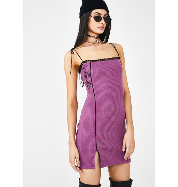 GANGYOUNG Plum Snake Slip Dress