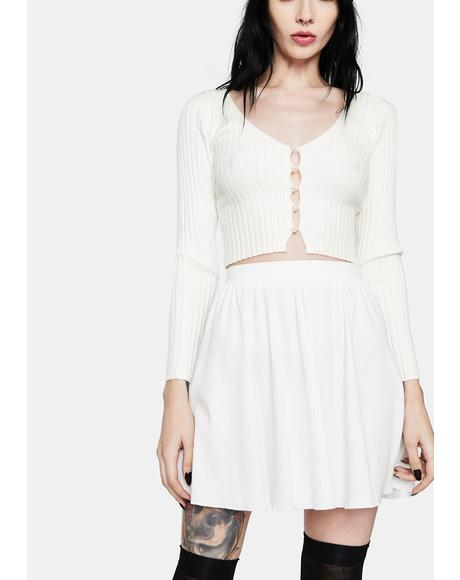 Snow Deep In My Heart Mini Skirt