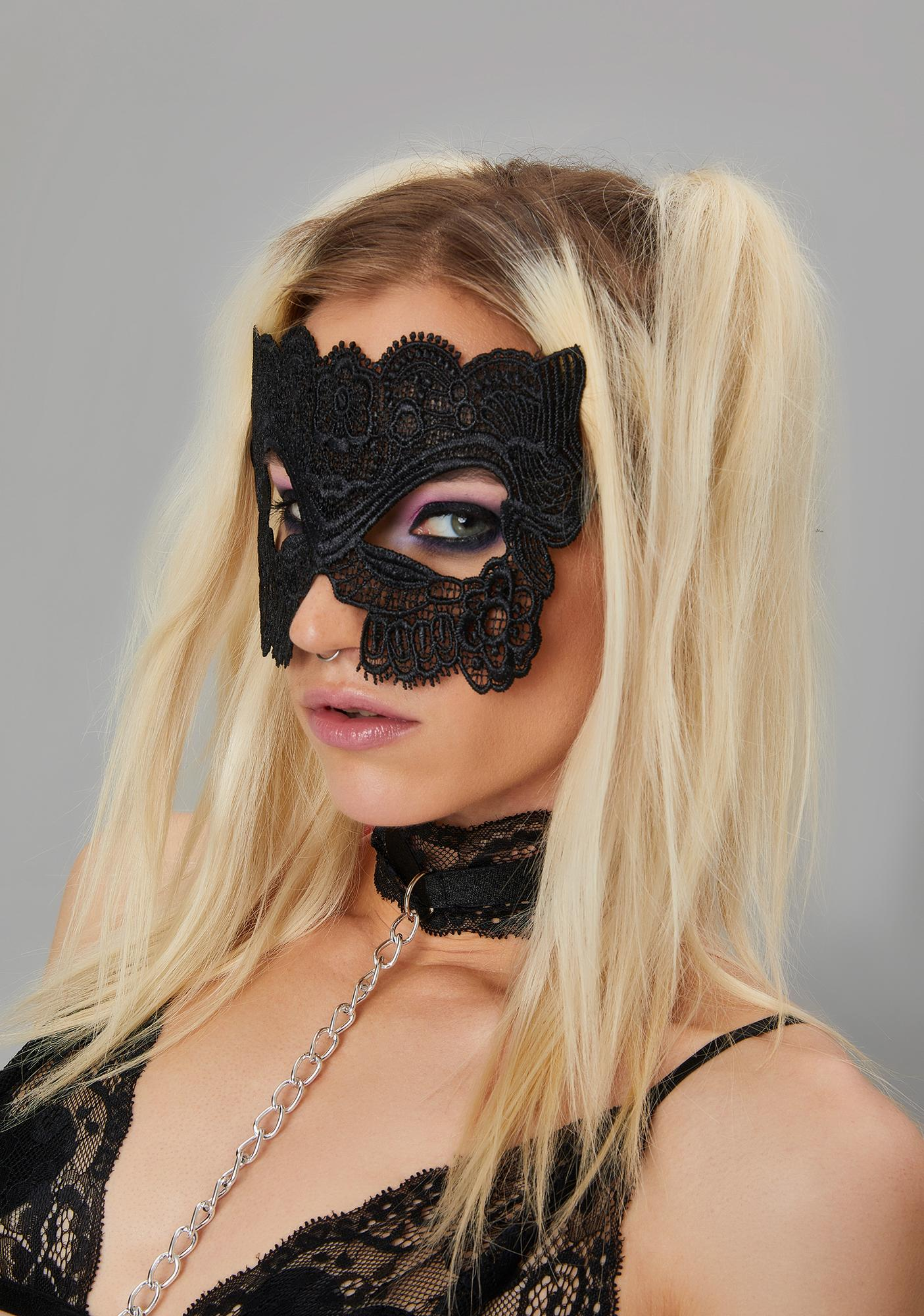 Forbidden Mystery Lace Eye Mask