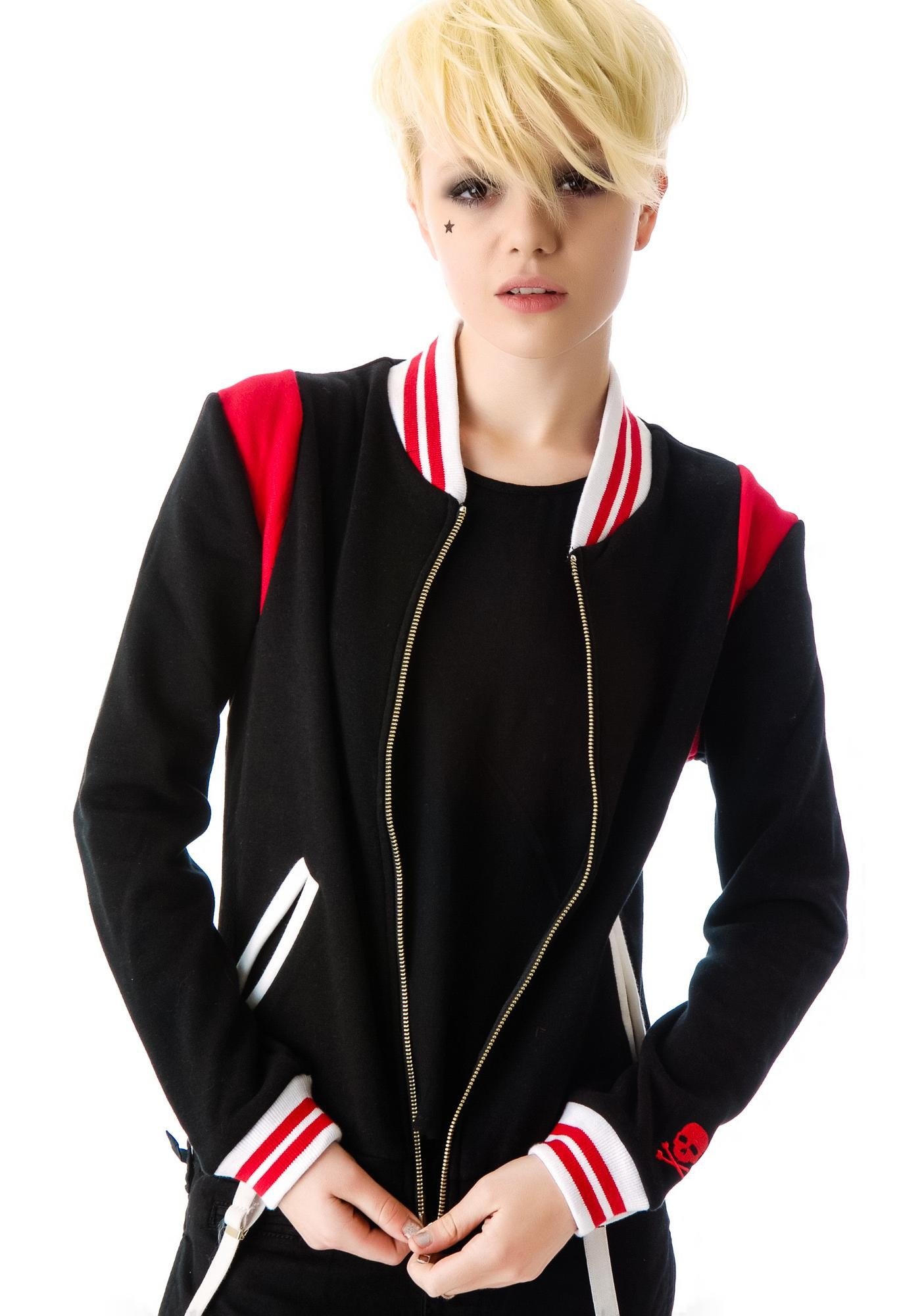 Sourpuss Clothing Jinxed Varsity Jacket