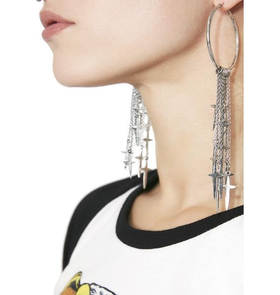 Blasphemy Hoop Earrings