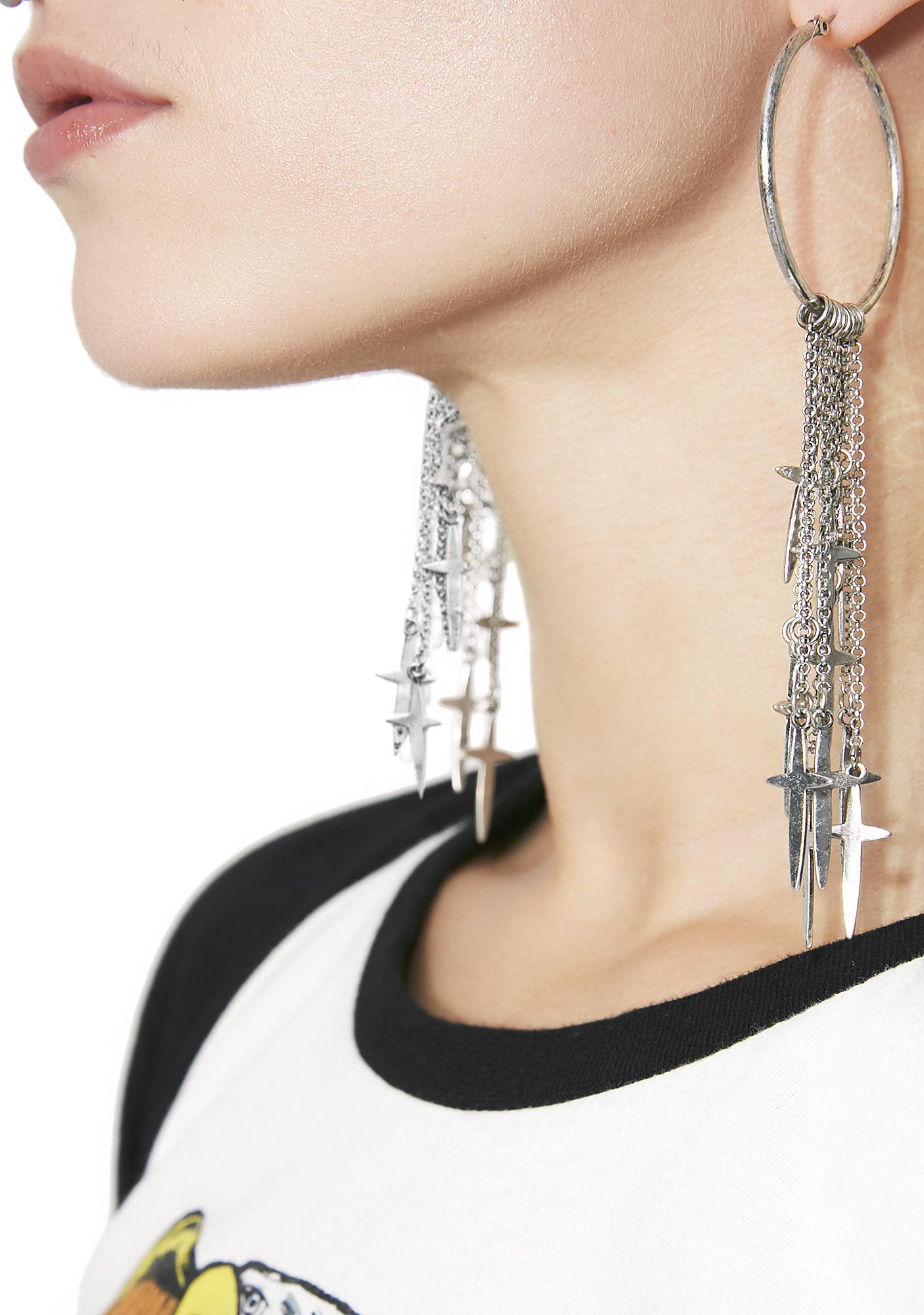 Blasphemy Hoop Earrings