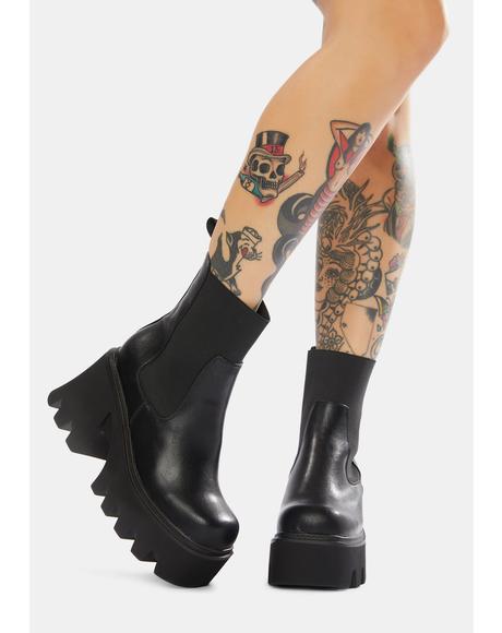 Sarcastic Platform Chelsea Boots