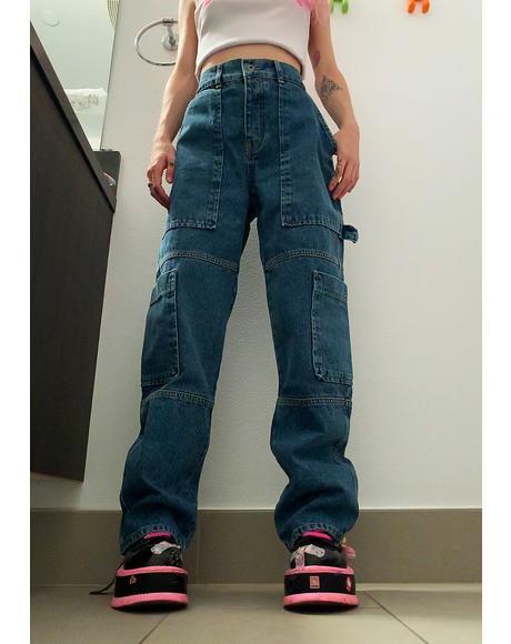 Combat Wide Leg Jeans