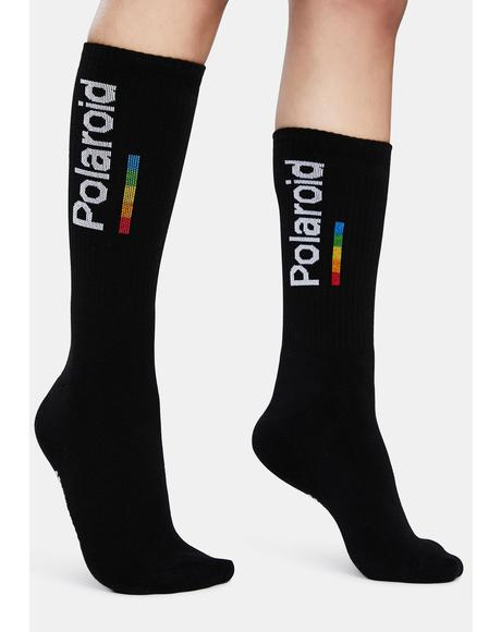 Polaroid Black Socks