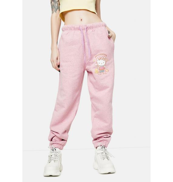 NEW GIRL ORDER Hello Kitty Graphic Logo Joggers