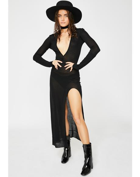 Dead Sexy Plunging Maxi Dress