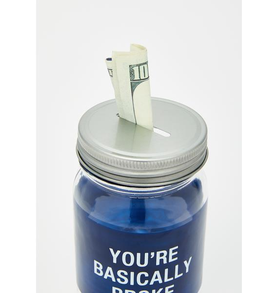 Broke Heaux Piggy Bank Jar