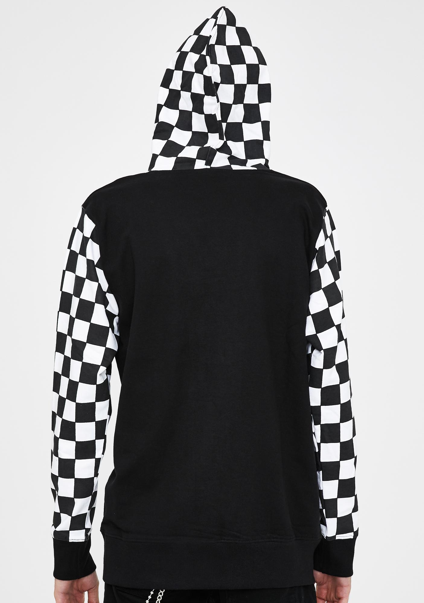 BROKEN PROMISES CO Problems Checkered Hoodie