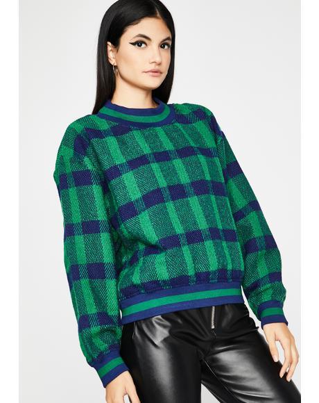 New Mood Plaid Pullover