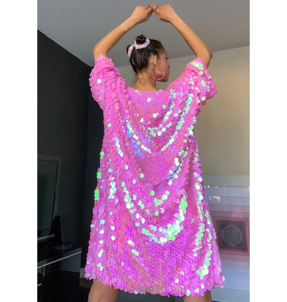 Sugar Thrillz Part Of Ur World Sequin Kimono