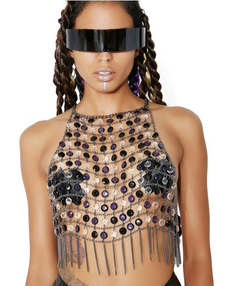 Dark Crystal Candiez Beaded Chain Top
