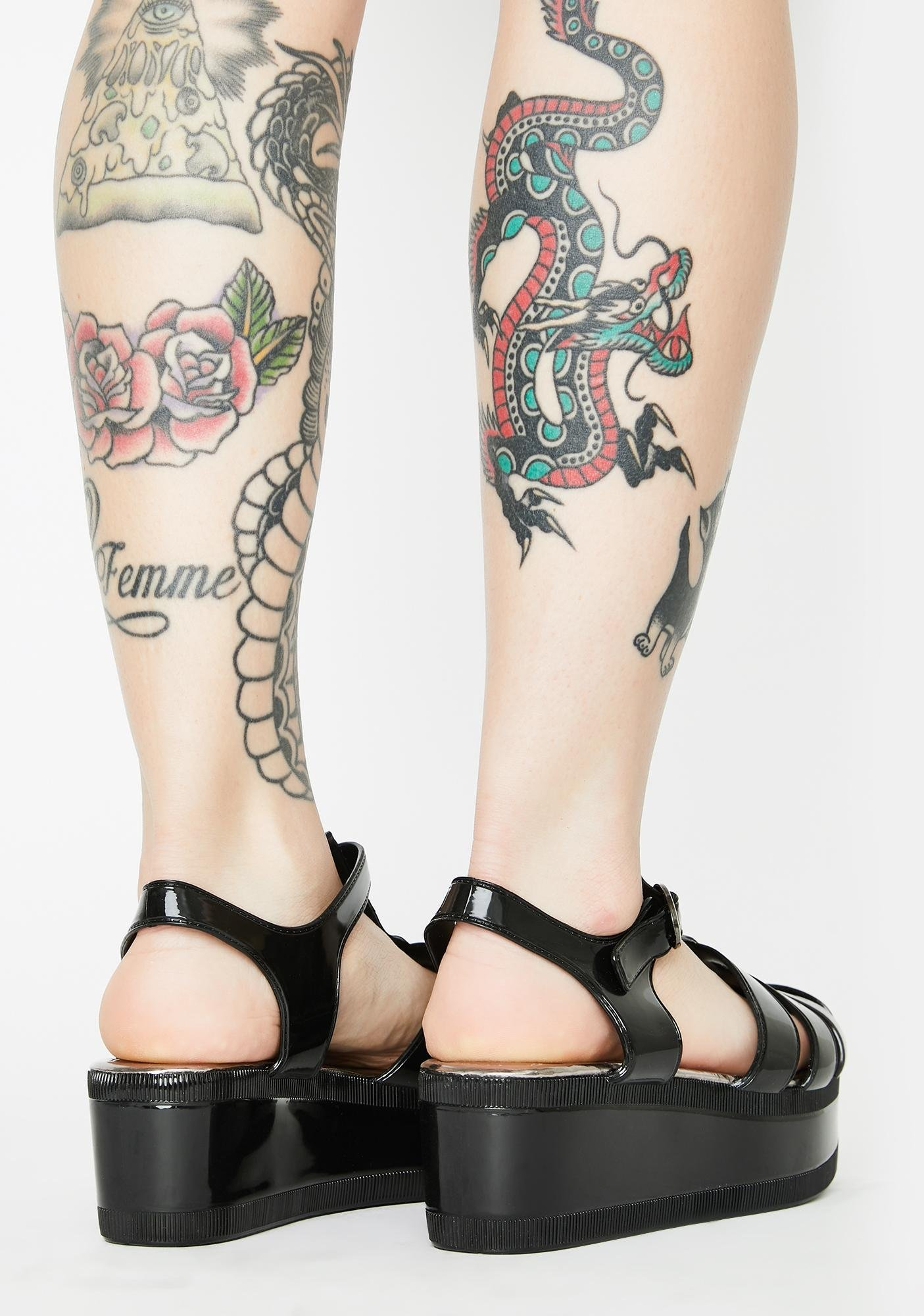 Ditch The Daydream Patent Sandals