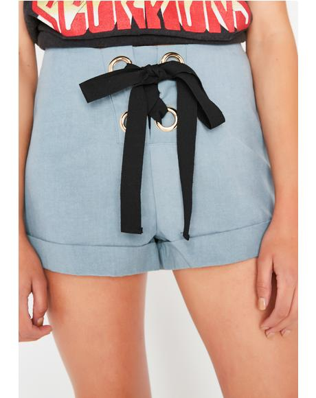 Issa Tie Lace-Up Shorts