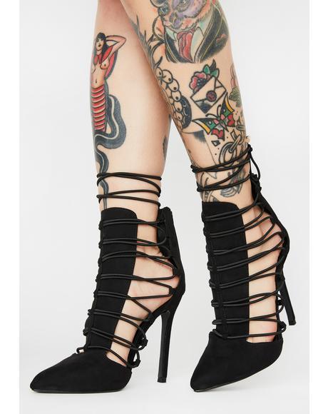 Crispp Lace Up Heels