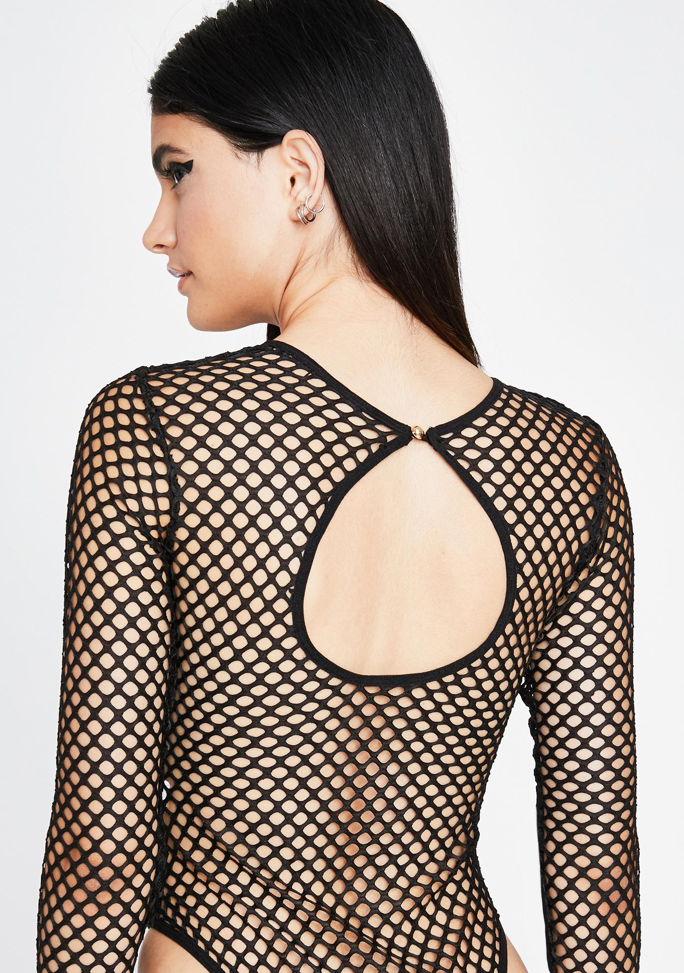 Night Rave Up Fishnet Bodysuit