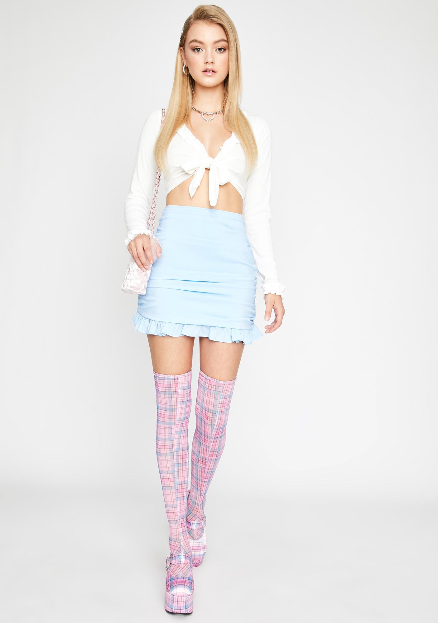 Sugar Thrillz Am I Selfish Ruffle Skirt
