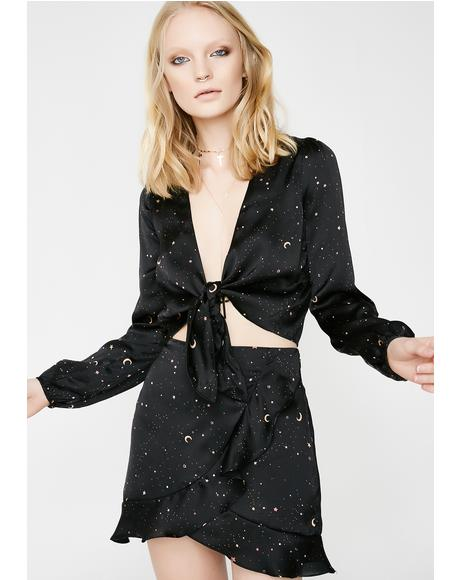 Astral Insights Silky Blouse