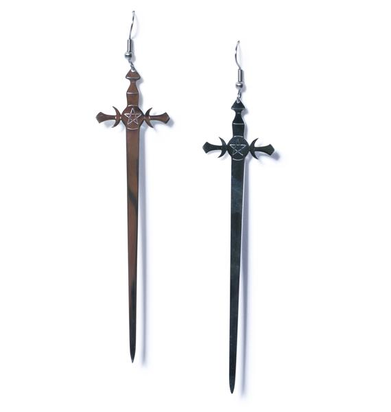 Killstar Sword Earrings