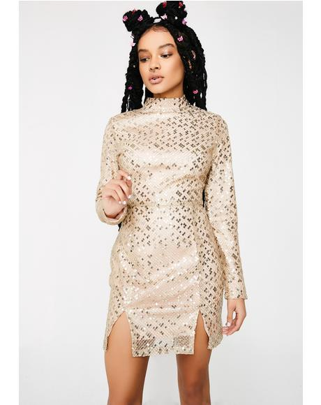 Pop The Bubbly Sequin Dress