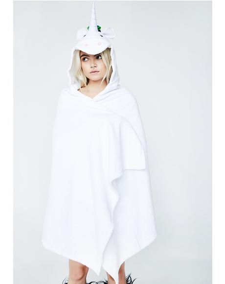 Adult Unicorn Hooded Towel