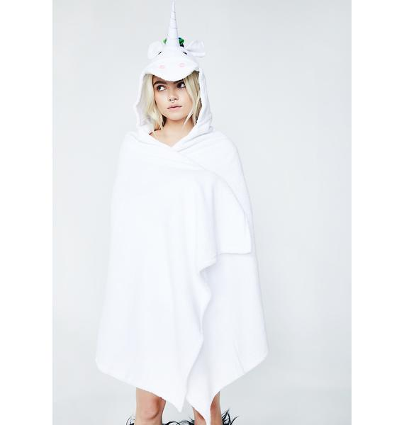 Yikes Twins Adult Unicorn Hooded Towel